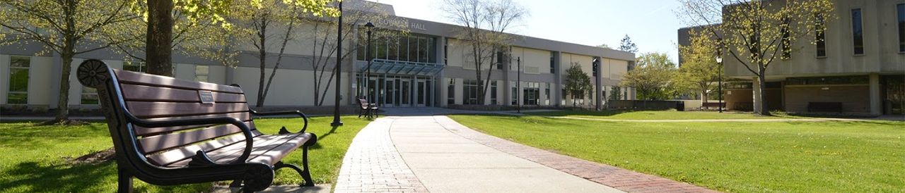 quad, bowman hall and library